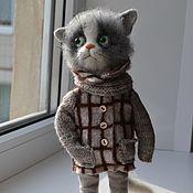 Куклы и игрушки ручной работы. Ярмарка Мастеров - ручная работа кот в пальто. Handmade.