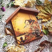 Для дома и интерьера ручной работы. Ярмарка Мастеров - ручная работа Вешалка для кухни, Осенние тона .. Handmade.