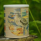 Для дома и интерьера handmade. Livemaster - original item Jar decoupage Sea. Handmade.