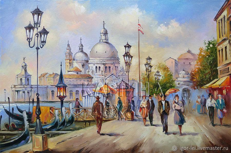 Картина маслом: Венеция. Набережная Гранд-канала, Картины, Москва,  Фото №1