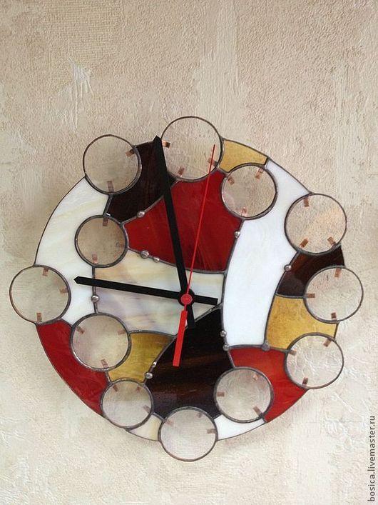 """Часы для дома ручной работы. Ярмарка Мастеров - ручная работа. Купить Часы """"Абстракция"""" тиффани. Handmade. Часы, часы для дома"""