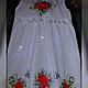 """Одежда для девочек, ручной работы. Ярмарка Мастеров - ручная работа. Купить Платье """"Розочки"""". Handmade. Белый, розочки, вышитое платье"""
