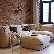 Для дома и интерьера ручной работы. Ярмарка Мастеров - ручная работа Дизайнерский диван с декоративными ремешками. Handmade.