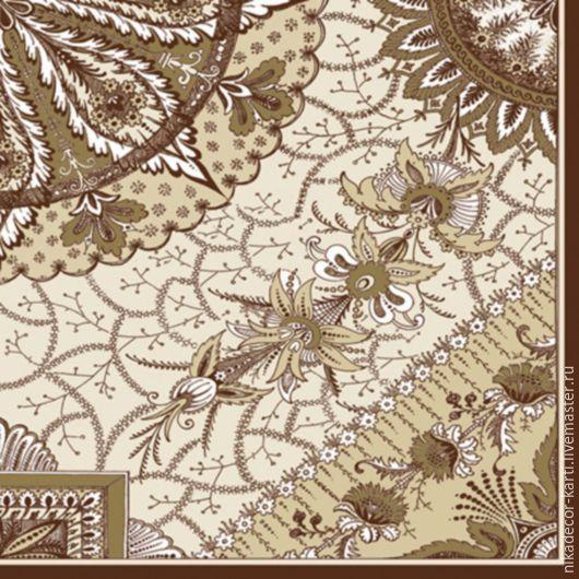 Декупаж и роспись ручной работы. Ярмарка Мастеров - ручная работа. Купить Орнамент коричневый (SLOG024402) - салфетка для декупажа. Handmade. Разноцветный