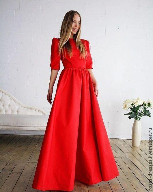 """Платья ручной работы. Ярмарка Мастеров - ручная работа. Купить Роскошное платье """"Карнелия"""". Handmade. Ярко-красный, роковой красный"""