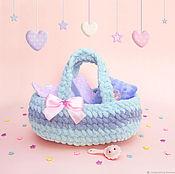 Куклы и игрушки handmade. Livemaster - original item Knitted soft carrier for dolls.. Handmade.