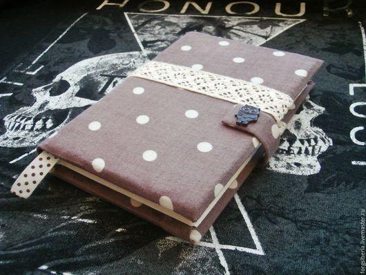 Блокноты ручной работы. Ярмарка Мастеров - ручная работа. Купить Шоколадный блокнот/скетчбук в горошек. Handmade. Коричневый, шоколад, шоколадный, скетчбук