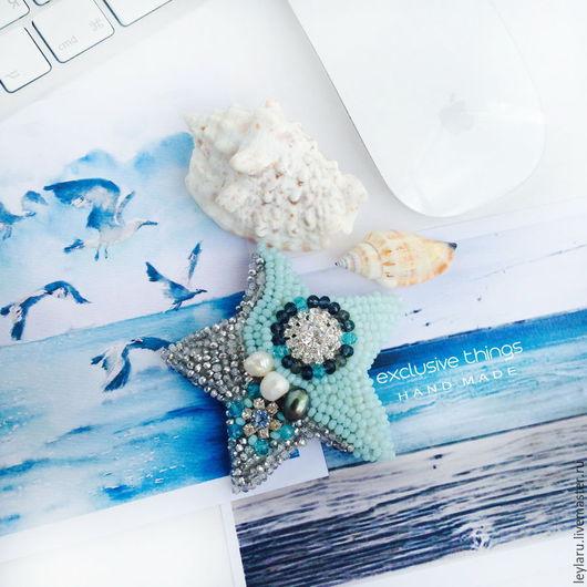 Брошь `Морская гармония`