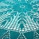 Текстиль, ковры ручной работы. Ярмарка Мастеров - ручная работа. Купить Мини-скатерть Цвета Морской Волны. Handmade.