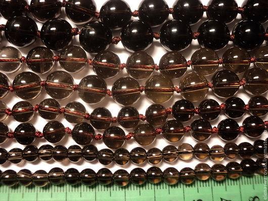Для украшений ручной работы. Ярмарка Мастеров - ручная работа. Купить Раухтопаз натуральный гладкий 6,8,10,12 мм.. Handmade.