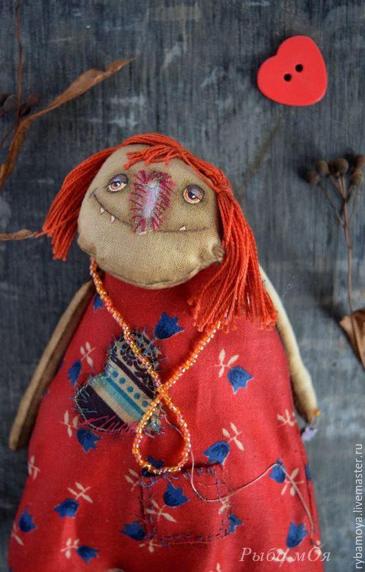 Чердачная кукла Нелюдка.  Ярмарка мастеров-ручная работа. Купить ароматизированную игрушку Нелюдка. Attic handmade textile doll. Мастер Яга.