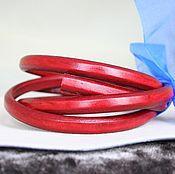 Материалы для творчества ручной работы. Ярмарка Мастеров - ручная работа Шнур 10х6,5 кожаный, красно-малиновый. Handmade.