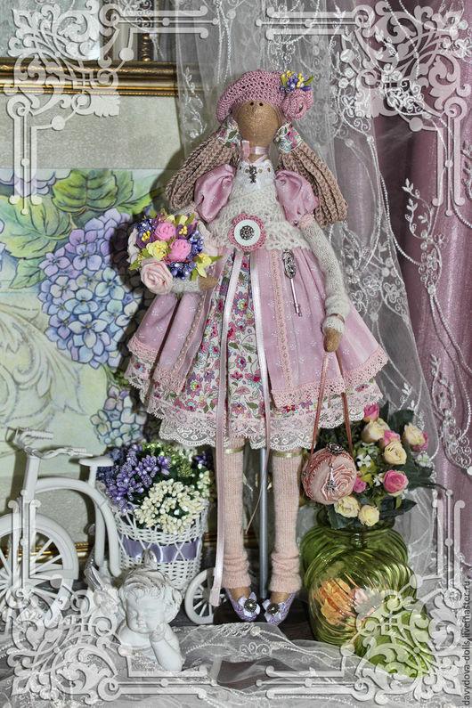 Куклы Тильды ручной работы. Ярмарка Мастеров - ручная работа. Купить кукла тильда Милана. Handmade. Розовый, кукла текстильная
