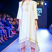 Одежда ручной работы. Ярмарка Мастеров - ручная работа Платье белое1. Handmade.
