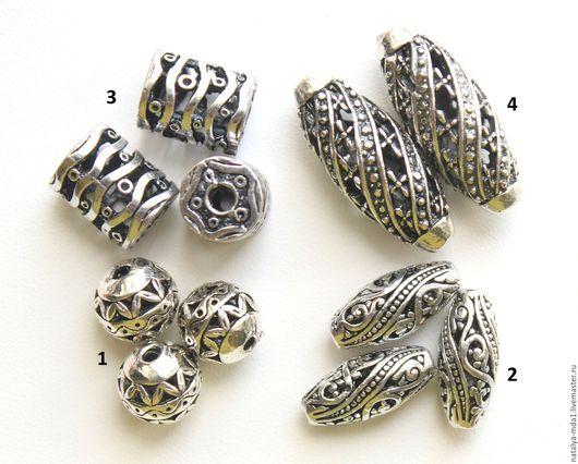 Для украшений ручной работы. Ярмарка Мастеров - ручная работа. Купить Бусины ажурные античное серебро С-3. Handmade.