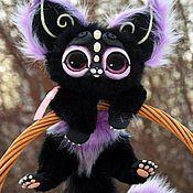 Куклы и игрушки ручной работы. Ярмарка Мастеров - ручная работа темный кошачий зверек. Handmade.