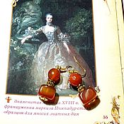 handmade. Livemaster - original item Earrings with carnelian and agate
