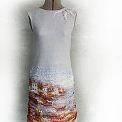 """Одежда ручной работы. Ярмарка Мастеров - ручная работа Платье сарафан валяный """"Акварель"""". Handmade."""
