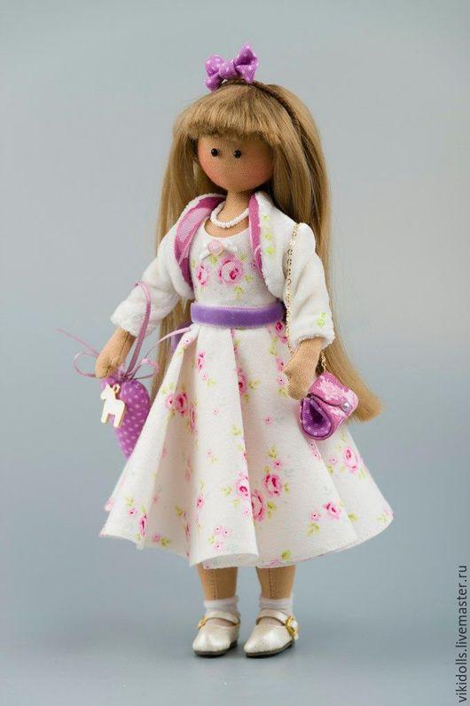 Коллекционные куклы ручной работы. Ярмарка Мастеров - ручная работа. Купить Кукла тильда Элен. Handmade. Бледно-розовый