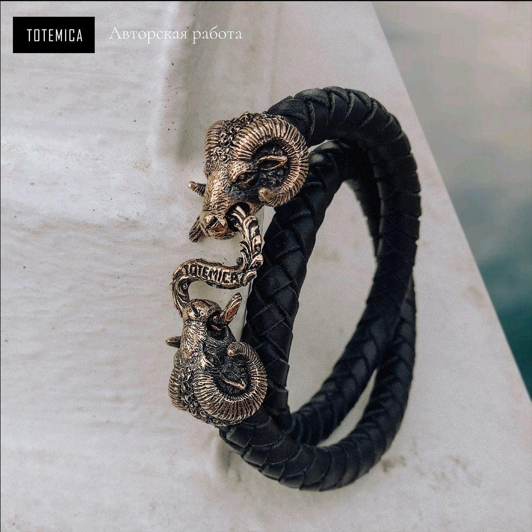 Bronze bracelet Aries, Braided bracelet, Moscow,  Фото №1