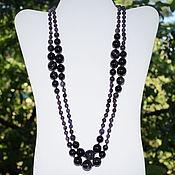 Работы для детей, handmade. Livemaster - original item Long large beads natural amethyst. Handmade.