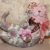 Куклы и игрушки ручной работы. Ярмарка Мастеров - ручная работа Летящая кошка Матильда в стиле Тильда. Handmade.