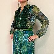 """Одежда ручной работы. Ярмарка Мастеров - ручная работа Платье из шифона """"Марина"""". Handmade."""