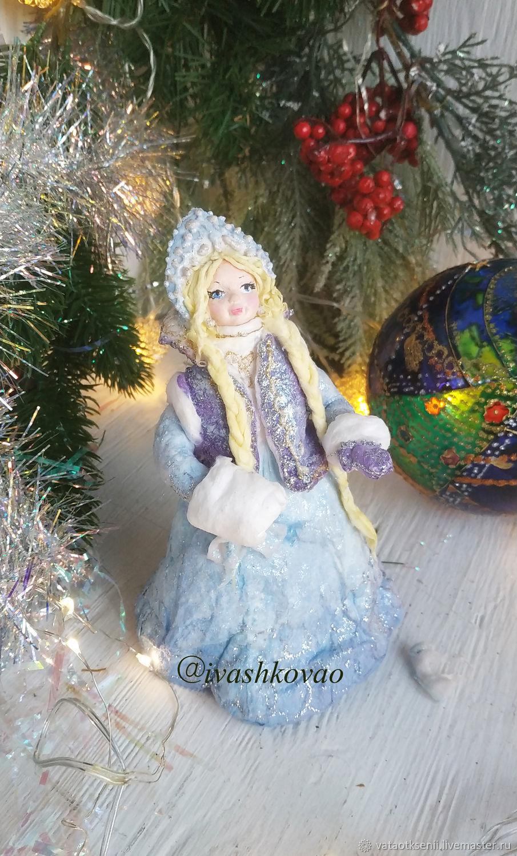 Ватная игрушка Снегурочка с муфтой, Куклы и пупсы, Владивосток,  Фото №1