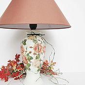Для дома и интерьера ручной работы. Ярмарка Мастеров - ручная работа Лампа настольная Карамельные розы. Handmade.