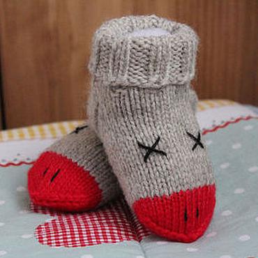 """Работы для детей, ручной работы. Ярмарка Мастеров - ручная работа Носки детские шерстяные """"Гуси"""". Handmade."""