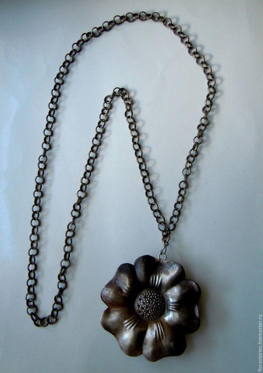 Винтажные украшения. Ярмарка Мастеров - ручная работа. Купить Антикварный серебряный кулон. До 1917 г.. Handmade. Серый