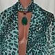 Изумрудный леопард-агат + шарфик , цена 900 р продан