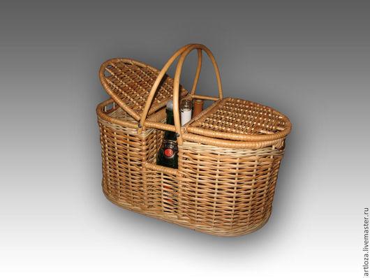 Корзины, коробы ручной работы. Ярмарка Мастеров - ручная работа. Купить Корзина плетеная для пикника из натуральной лозы. Handmade. Корзина