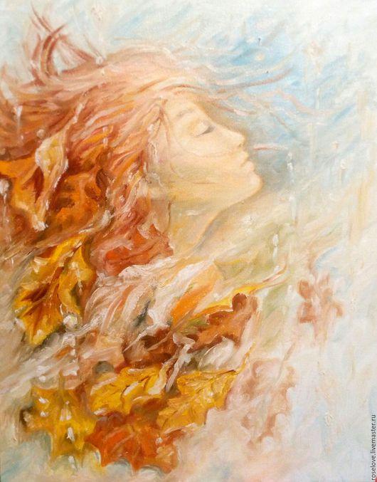 Картина маслом `Теплая осень` Пейзаж на холсте (по мотивам картины Вильем Хентритс(Willem Haenraets)Катерины Аксеновой. Копия картины.Импрессионизм.