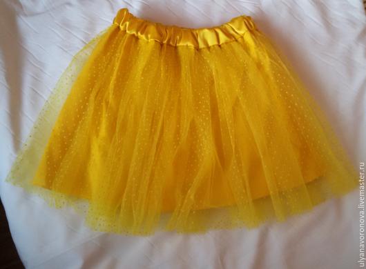 Одежда для девочек, ручной работы. Ярмарка Мастеров - ручная работа. Купить Юбка из фатина. Handmade. Желтый, юбка, юбка в горошек