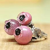 Украшения ручной работы. Ярмарка Мастеров - ручная работа Кольцо с розовыми ягодами. Handmade.
