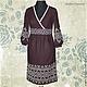 Льняное платье с ручной вышивкой Пражское.\r\nМодная одежда с ручной вышивкой. \r\nТворческое ателье Modne-Narodne.
