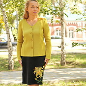 "Одежда handmade. Livemaster - original item Knitted suit ""Sun Lily"". Handmade."