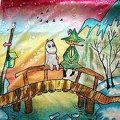 """Аксессуары ручной работы. Ярмарка Мастеров - ручная работа """"В стране Муми-Троллей"""" платок. Handmade."""