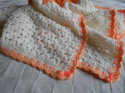 Пледы и одеяла ручной работы. Ярмарка Мастеров - ручная работа. Купить Вязанный плед