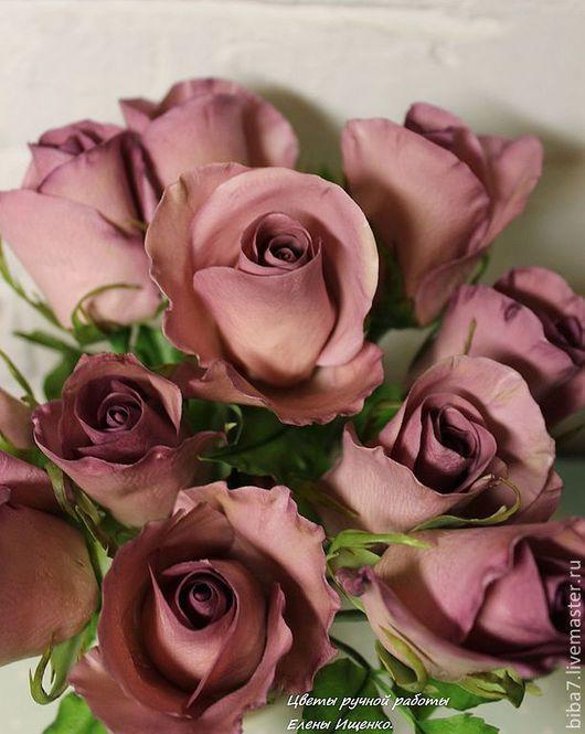 Интерьерные композиции ручной работы. Ярмарка Мастеров - ручная работа. Купить Букет роз.Керамическая флористика цветы из полимерной. Handmade.