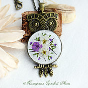 Украшения handmade. Livemaster - original item The pendant is made of resin with real flowers,