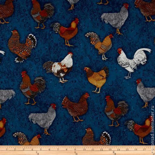 """Шитье ручной работы. Ярмарка Мастеров - ручная работа. Купить Хлопок для пэчворка. (5 видов) """"Ценная Курица"""". Американские ткани.. Handmade."""