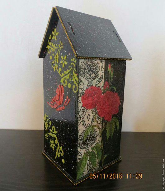 Кухня ручной работы. Ярмарка Мастеров - ручная работа. Купить Чайный домик Розы в черно белом. Handmade. Черный, набрызг