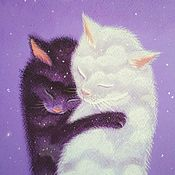 Картины и панно handmade. Livemaster - original item Pictures: Picture with cats We are the eternal tenderness of each other. Handmade.