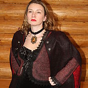 Одежда handmade. Livemaster - original item Cape felted wool Carmen. Handmade.