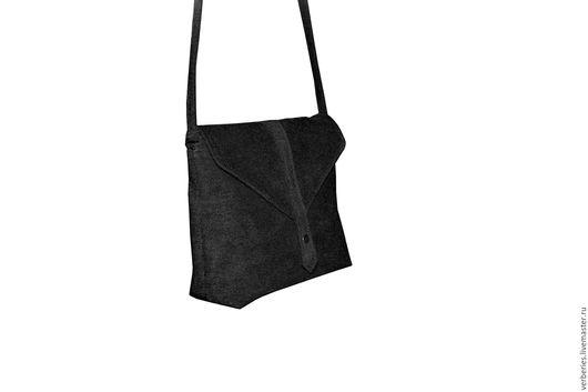 Женские сумки ручной работы. Ярмарка Мастеров - ручная работа. Купить Стильная бархатная сумочка с длинным ремешком. Handmade. Черный