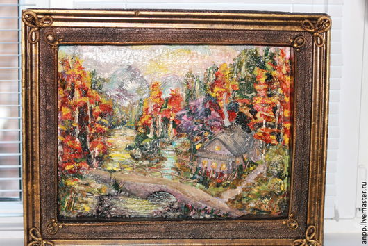 Картины цветов ручной работы. Ярмарка Мастеров - ручная работа. Купить Картина 3D Осень. Handmade. Комбинированный, подарок