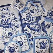 """Для дома и интерьера ручной работы. Ярмарка Мастеров - ручная работа """"Птица Сирин"""" набор для дома, кухни. Handmade."""