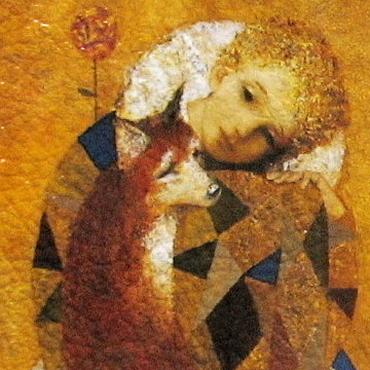"""Канцелярские товары ручной работы. Ярмарка Мастеров - ручная работа Обложка для паспорта  """"Маленький принц""""  ( декупаж кожа ). Handmade."""